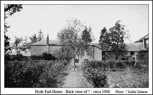 Back view of Hyde End House